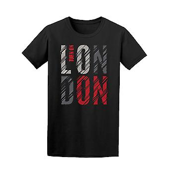 London Turn On Red & Black Tee Men's -Image by Shutterstock