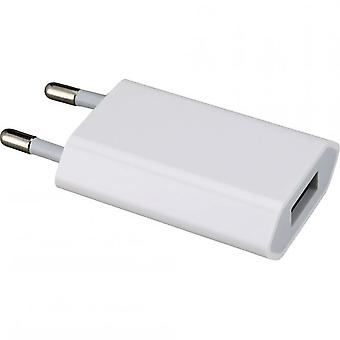Original Apple bulto MD813ZM A1400 USB mini cargador adaptador 5W, iPhone 5S SE C 5, 2 x Muvit protector mat