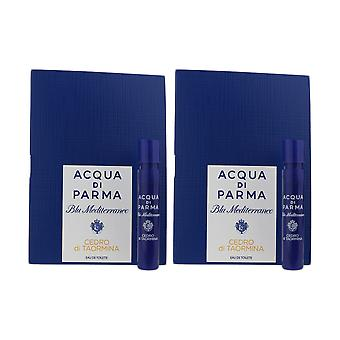 Acqua Di Parma 'Blu Mediterraneo Cedro Di Taormina' EDT 1.2ml ( Pack OF 2)