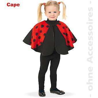 Cape Kinder Kostüm Käferkostüm Käfer Marienkäfer Glückskäfer Kinderkostüm
