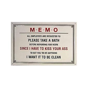 Memo - Please Take A Bath Metal Sign