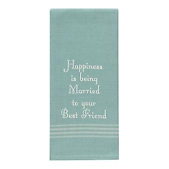 Park Designs Happiness is Married To Best Friend Kitchen Dish Towel 28 Inch