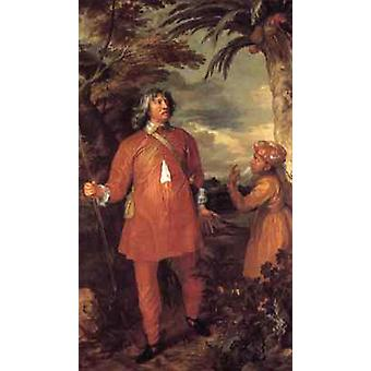 デンビグ伯爵の肖像、アンソニー・ヴァン・ダイク、60x40cm