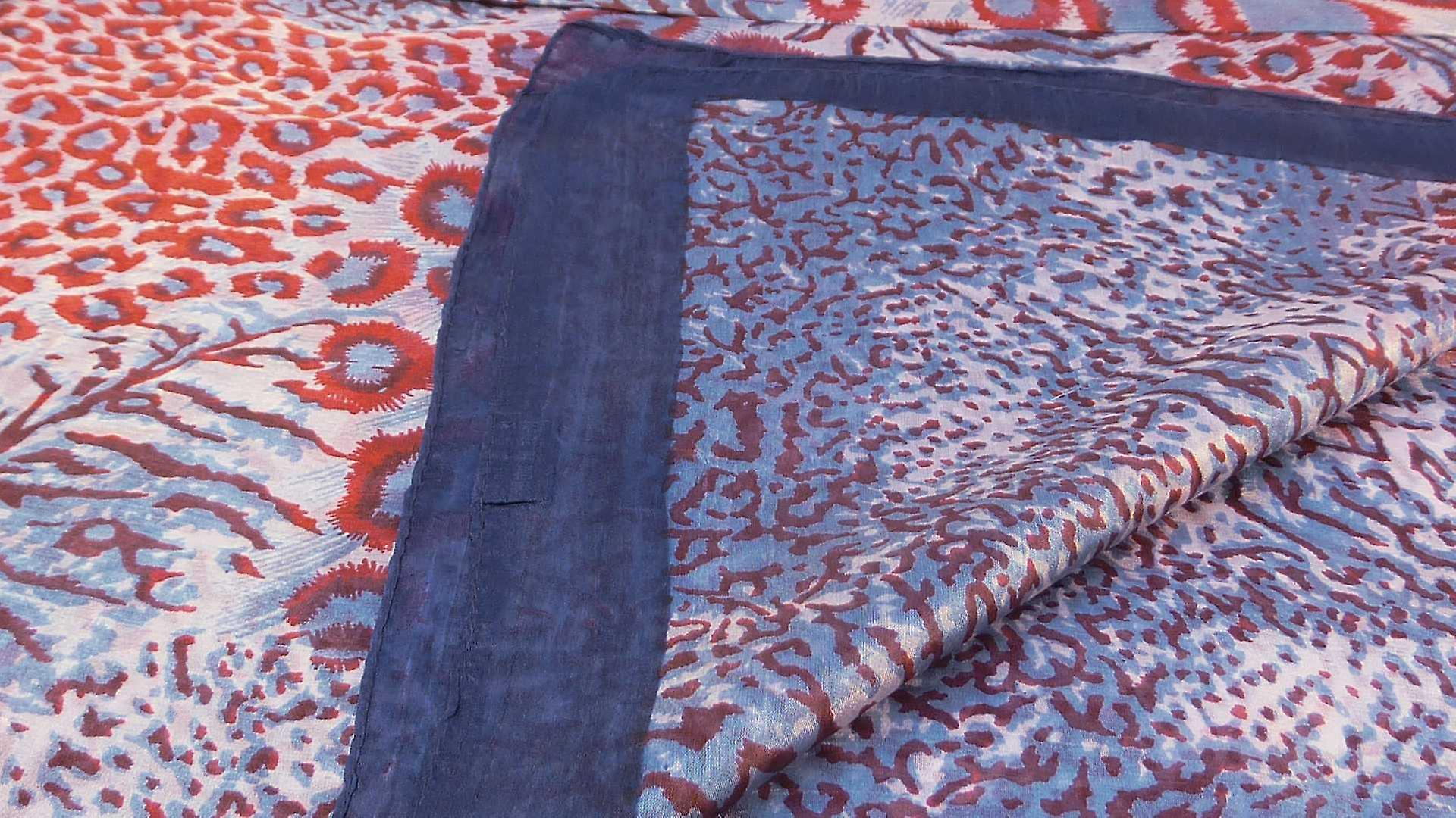 Mulberry Silk Contemporary Square Scarf Chanderi Navy by Pashmina & Silk