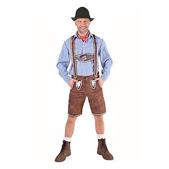 Homens fantasias de luxo de calças tirolesas Oktoberfest