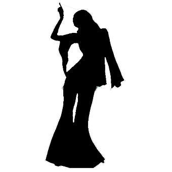 Nainen Disco Dancer (Party Prop) - Lifesize pahvi automaattikatkaisin / seisoja