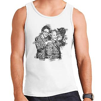 TV volte commedia Duo Eric Morecambe ed Ernie Wise 1981 uomo gilet