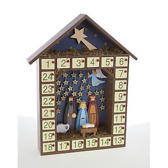Heaven Sends Traditional Nativity Wooden Advent Calendar