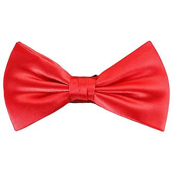 Knightsbridge Neckwear Plain Polyester Bow Tie - Bright Red