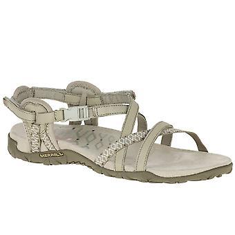 Merrell 人族格子二女子休闲凉鞋