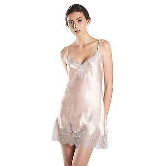 Aubade MS42 Women's Soie D'Amour Floral Silk Chemise Slip Sleepwear Babydoll