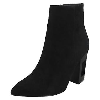 Ladies Spot On Ankle Boot Tapered Toe