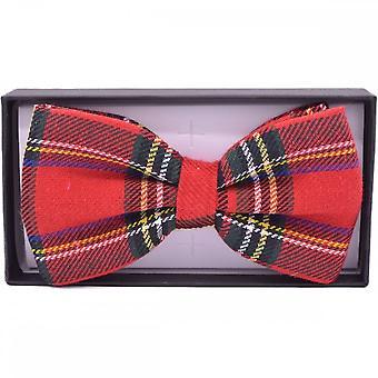 Union Jack dragen Tartan strikje - Schotland Clip op vlinderdas
