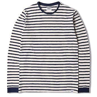 Edwin Tokyo Blues Long Sleeve Tshirt  Off White