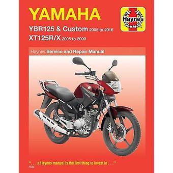 Yamaha YBR125 & Custom - XT125R/X Service & Repair Manual 2005 to 201