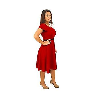 Dbg women's short sleeve scoop neck polyester fall dresses