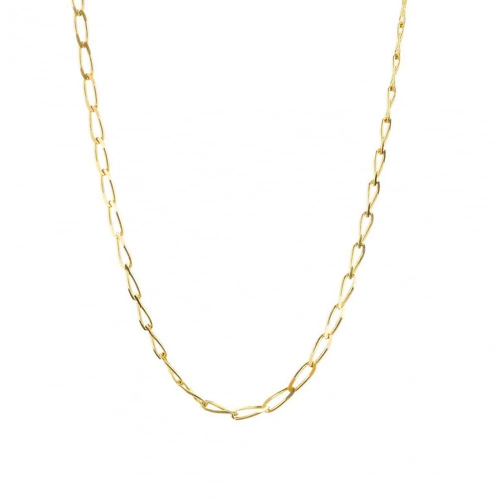 Eternity 9ct Gold 20'' Diamond Cut Solid Rada Curb Chain