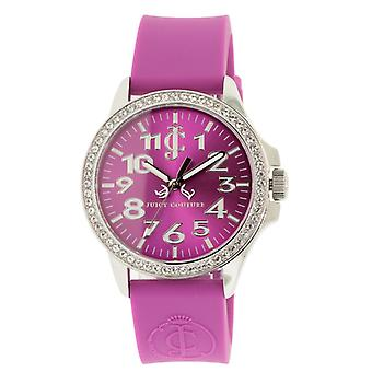 Juicy Couture Jetsetter Purple Silicone Ladies Watch 1900967