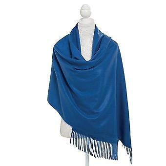 Eternal Collection Pashmina Dark Blue Oblong Soft Polyester Scarf