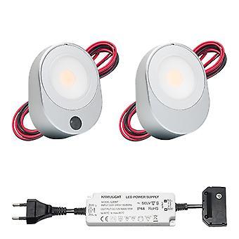 LED-Küchenoberfläche montiert Spot Lilla | Sensor | Warmweiß | Satz von 2, 3 oder 4 Stück