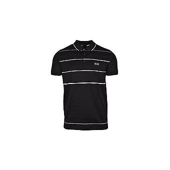 BOSS Athleisure Boss Athleisure Paddy 5 Regular Fit Stripe Polo Shirt Black