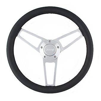 Grant 1904 Billet Series Leather Steering Wheel with Jeep Logo and Install Kit, 1 Pack