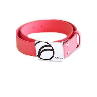 Fayde golf pu, metal buckle golf belt coral