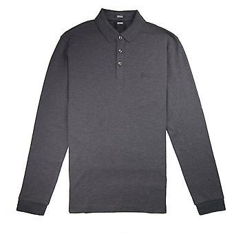Hugo Boss Pado 10 Langærmet Polo skjorte mørkegrå