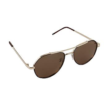 Men's sunglasses and Sunglasses Women's Polaroid Pilot - Gold/Brown with free brillenkokerS361_2