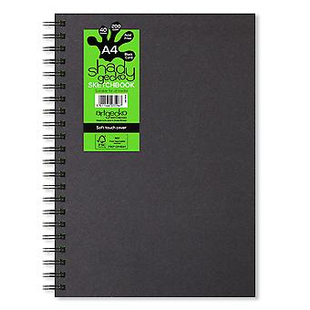 Artgecko Shady Gecko A4 Portrait Black Card Sketchbook