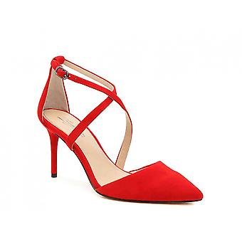 Imagine Vince Camuto Womens Gabe Fabric Pointed Toe Ankle Strap Classic Pumps