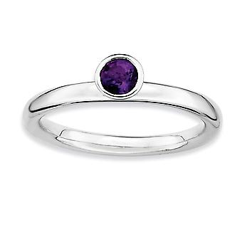 925 Sterling Silver Bezel Polished Rhodium plaqué Stackable Expressions High 4mm Round Amethyst Ring Jewelry Gifts for 925 Sterling Silver Bezel Polished Rhodium plaqué Stackable Expressions High 4mm Round Amethyst Ring Jewelry Gifts for 925 Sterling Silver Bezel Polished Rhodium plaqué Stackable Expressions High 4mm Round Amethyst Ring Jewelry Gifts for 925 Sterling Silver