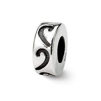 925 Sterling Silver finish Reflections Stopper Spacer Bead Charm Pendant Necklace Jewelry Gifts for Women