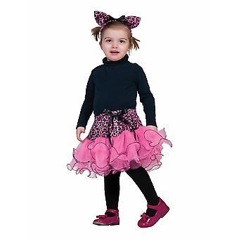 Pinker Leopard Kinderkostüm Wildkatze Kostüm Kinder Karneval Tierkostüm