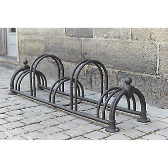 """Mottez - Fietsenrek """" Versailles II"""" rostig (5 fietsen)"""