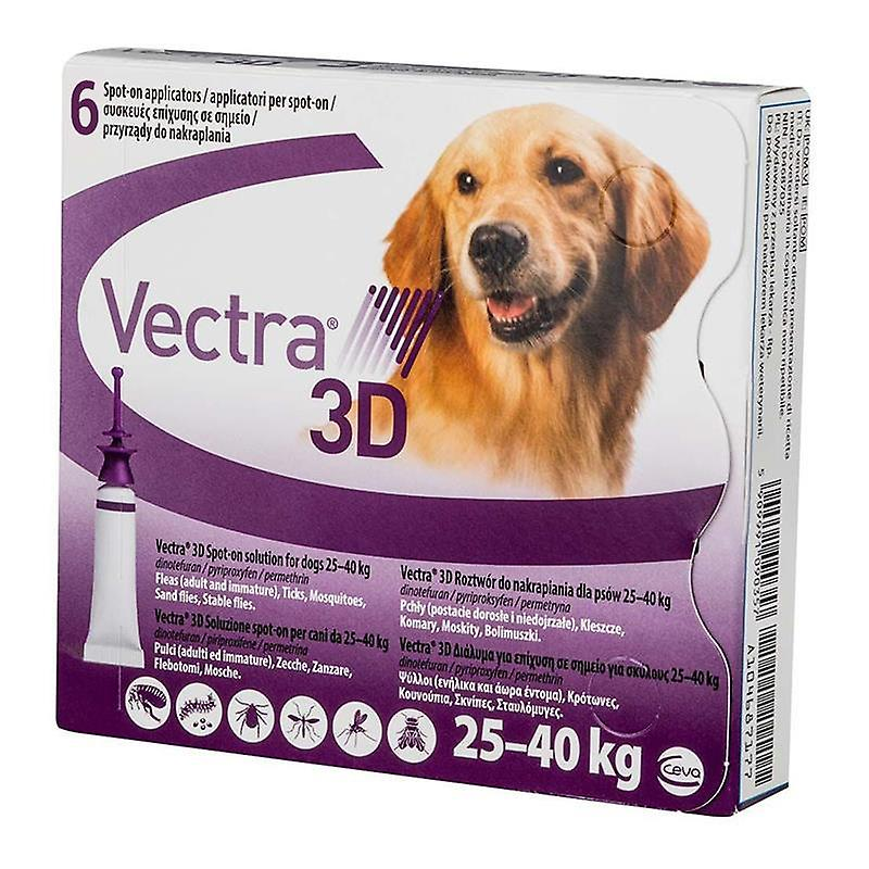 Vectra 3D Purple for Large Dogs 25-40 kg (56-95 lbs)  - 6 Doses