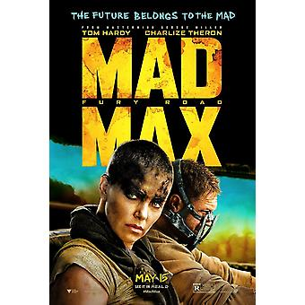 Mad Max Fury Road Original Movie Poster Double Sided Advance Style B