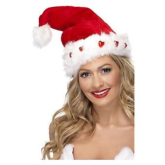 Light Up Santa Hat, rojo, accesorio de vestido de lujo de lujo