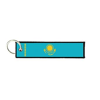 Port Cles Key Cle Homme Homme Fabric Brode Prints Kazakh Kazakhstan Flag