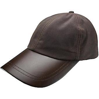 Leather Skip Wax Baseball Cap