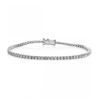 Diamant armbånd armbånd-18K 750/-hvid guld-3,06 CT.