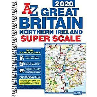 Groot-Brittannië Super Scale Road Atlas 2020 a3 spiraal