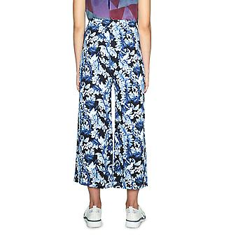 Desigual Women's Boston Floral & Leaf Print Wide Cropped Trousers