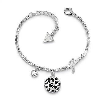 Bracelet Guess CURVE X UBB29135-S - acier rhodi� et pampille motif animalier Femme