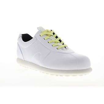 Camper Pelotas  Mens White Leather Lace Up Low Top Sneakers Shoes