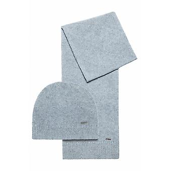 Hugo Boss Zanto Wool Grey Hat & Scarf Set