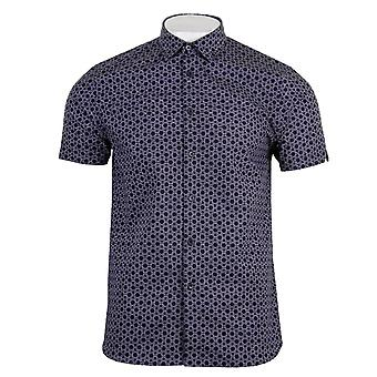 Ted Baker Mens Enyone Marine Hexline Shirt