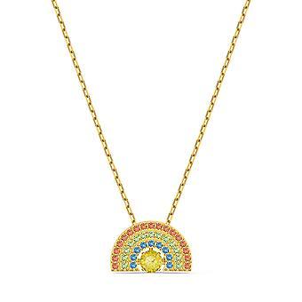 Swarovski halsband 5521756-M tal guld kristaller ljus kvinnor