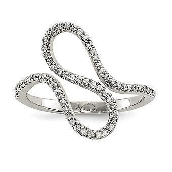 925 Sterling Silver CZ kubický zirkónia simulované diamantové prsteň šperky Darčeky pre ženy-krúžok veľkosť: 6 až 8