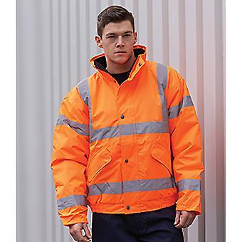 Portwest Mens Hi-Vis Sicherheit Workwear Bomber Jacke GO/RT